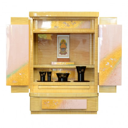 国産仏壇 みかげ塗り 雪乃華